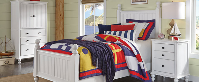 White Nautical Bedroom Set
