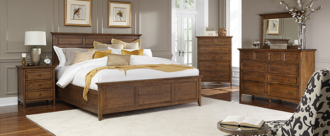 Dark Wood Bedroom Set