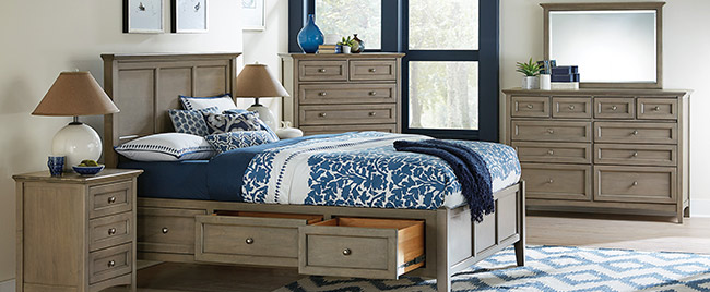 Ash Wood Bedroom Set