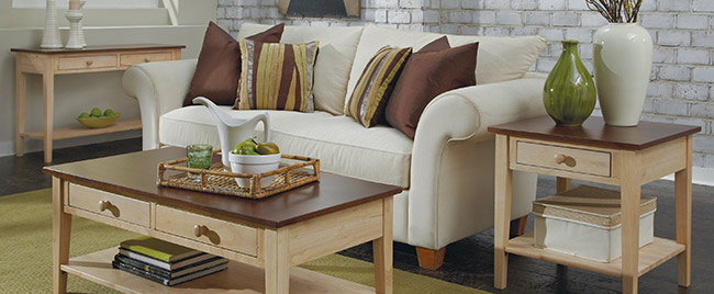 Tan and Brown Living Room Set
