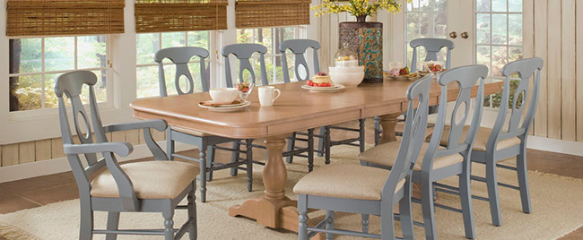 Gray and Tan Dining Set