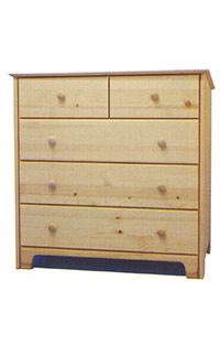 Chest of Drawers - 2x3 Natural Wood
