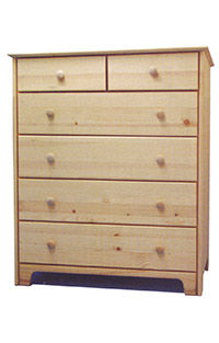Chest of Drawers - 2x4 Natural Wood