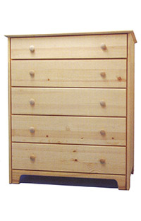 Chest of Drawers - 6 Drawers Natural Wood